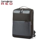 Samsonite Red【HOLTE HT2】15.6吋筆電後背包商務拼接皮革方正外型多隔層抗菌口袋可插掛(詢問另優惠