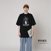 夏季休閑情侶寬鬆短袖T恤港風日系男女上衣【聚物優品】