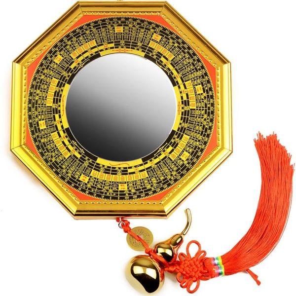 帝祖合金八卦鏡掛件凸鏡凹面風水用品擺件太極門口居家裝飾品 潮流衣舍