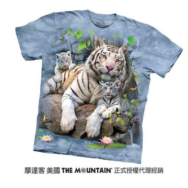 【摩達客】美國進口The Mountain 白虎家族 純棉環保短袖T恤(10416045028)
