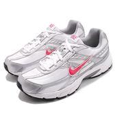 Nike 老爹鞋 Wmns Initiator 白 銀 桃紅 低筒 復古 慢跑鞋 運動鞋 女鞋【PUMP306】 394053-101