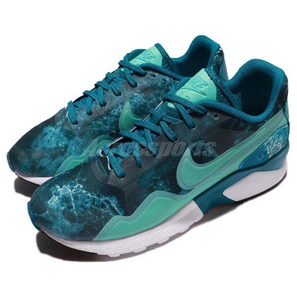 【海外限定】Nike 復古慢跑鞋 Wmns Air Pegasus 92 / 16 Print 藍 綠 運動鞋 女鞋【PUMP306】 844927-300