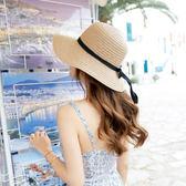 可折疊草帽太陽帽子女遮陽沙灘帽女帽子