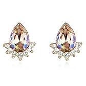水晶耳環 925純銀耳針式-鑲鑽奢華生日情人節禮物女飾品5色73bd198【時尚巴黎】