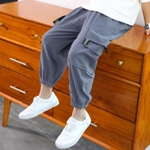 童裝男童夏季褲子兒童防蚊褲夏天薄款夏裝中大童工裝褲新款潮 快速出貨