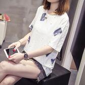 限定款免運夏裝大尺碼女裝(S-5L)短袖T恤微胖妹妹夏季半袖學生上衣打底衫潮