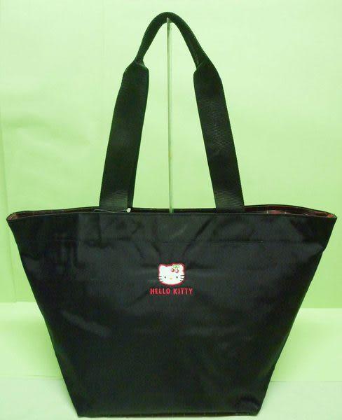 【震撼精品百貨】Hello Kitty 凱蒂貓~手提袋肩背包媽媽袋『黑底紅格子』