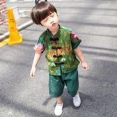 唐裝套裝男童 兒童唐裝男童套裝夏季寶寶中國風復古棉麻漢服潮薄款1-2-3歲嬰兒 米蘭街頭