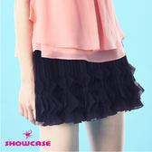 【SHOWCASE】雙菱形壓褶短裙(黑)