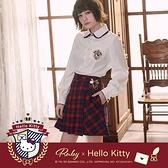 褲裙 Hello Kitty x Ruby 聯名款.格紋蝴蝶結百褶褲裙-Ruby s 露比午茶