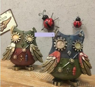 [協貿國際]   機械鳥擺件咖啡廳樹脂擺件家居裝飾品  (1入)