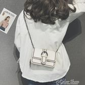上新包包女新款潮韓版時尚鍊條小方包百搭斜背單肩包color shop
