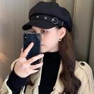貝雷帽女韓版潮ins春秋季英倫復古日系黑色蓓蕾畫家報童八角帽子 黛尼時尚精品