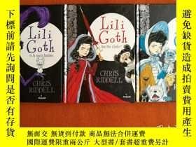 二手書博民逛書店法文原版罕見Lili Goth (Goth Girl 系列法語譯本) 三本合售 LIli Goth et la s