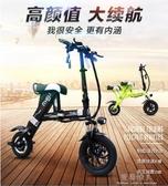 機車-電瓶車成人可摺疊電動滑板車兩輪代步電動自行車便攜 完美YXS