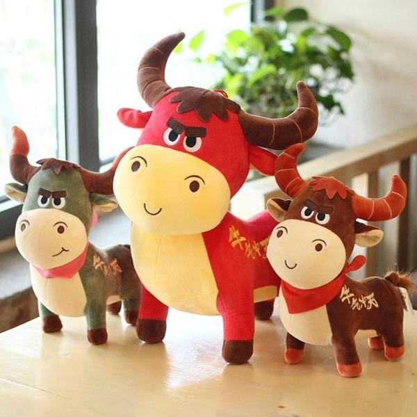 2021牛年吉祥物公仔牛氣沖天玩偶生肖牛毛絨玩具小牛娃娃新年禮品 蘇菲小店