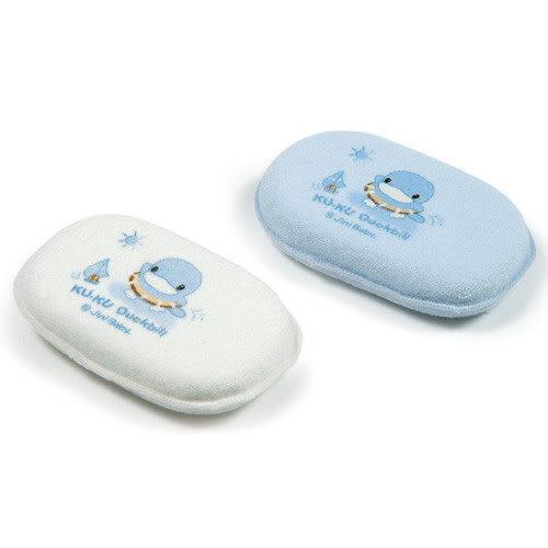 【奇買親子購物網】酷咕鴨KU.KU. 毛巾沐浴球(藍色/白色)
