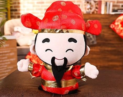 【20公分】招財進寶財神爺娃娃 過年必備福氣玩偶 新年快樂吉祥物公仔 居家裝飾 鼠年行大運