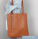 大容量單肩包 子母包包女新款單肩包女大包托特包女學生韓版軟皮簡約百搭潮 快速出貨