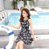 韓版連身泳衣女 時尚印花大碼泳衣 女士泳裝 迪澳安娜