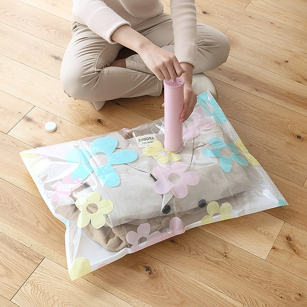 泰博思 11件組 壓縮袋 真空袋 衣物收納 收納袋 旅行 居家 省空間 防潮【F0438】