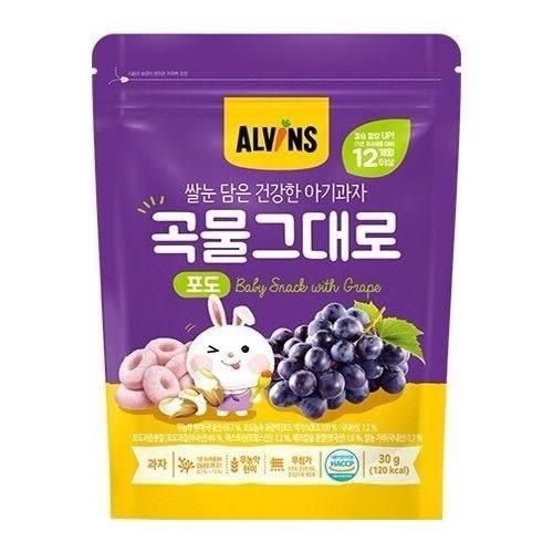 【韓國ALVINS愛彬思】糙米加鈣寶寶餅乾30g(起司風味)