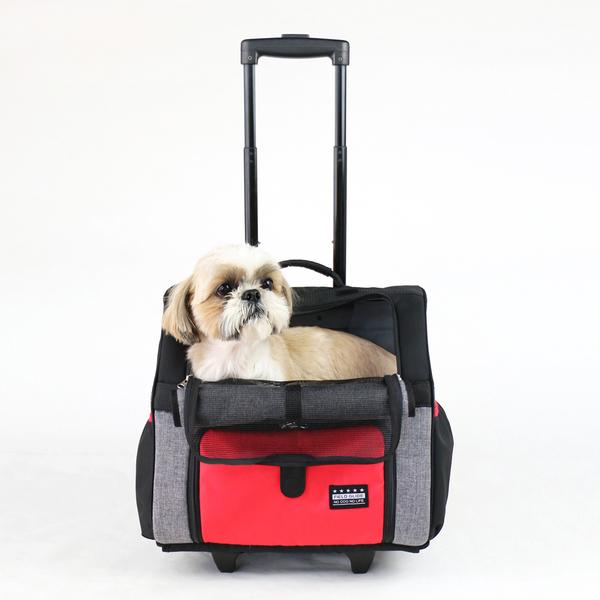 【PET PARADISE 寵物精品】Field Glide 素色拉桿雙肩2用外出包【小型犬】 寵物拉桿包 外出包