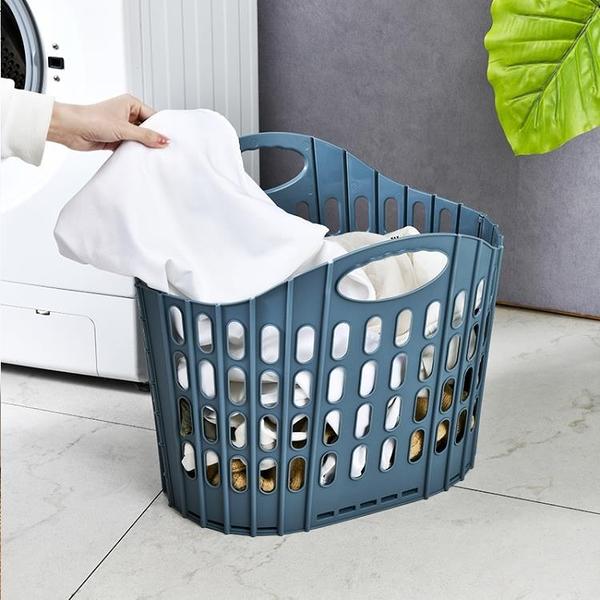 收納籃 可折疊衛生間換洗髒衣服收納筐污衣籃髒衣簍子家用床邊放衣服神器【幸福小屋】