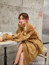 特惠風衣工裝外套女寬鬆bf收腰港風復古新款秋季短款風衣交換禮物