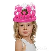 生日帽 NPW兒童寶寶充氣皇冠生日帽子國王王冠皇後皇冠派對帽網紅生日趴【快速出貨】