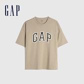 Gap男裝 Logo純棉圓領短袖T恤 688537-咖啡色