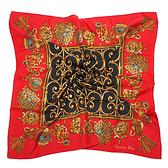Christian Dior華麗流蘇墜飾方型絲巾(紅色)179017-1