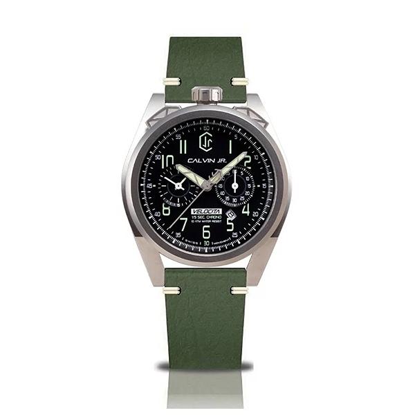 【CJR】Velocita日期計時潮流腕錶-軍綠款/VE-ARM/台灣總代理公司貨享兩年保固