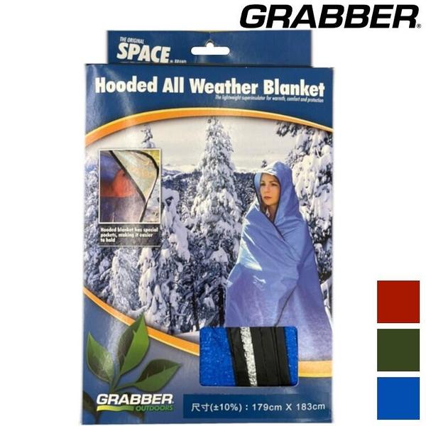 『VENUM旗艦店』GRABBER 戶外用毯/緊急求生毯/美軍地布-含帽版Space Hooded All Weather Blanket