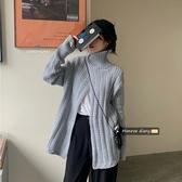 毛衣寬鬆高領長袖麻花毛衣外套2020新款秋季女裝寬鬆中長款設計感上衣 雙11 伊蘿