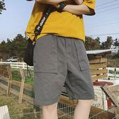夏季寬鬆男士薄款全棉短褲學生百搭休閒褲港風舒適純色沙灘褲
