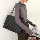 韓版手提包包包女大容量潮高級感韓版簡約百搭手提側背斜背包托特包春季 朵拉朵YC
