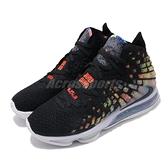 【六折特賣】Nike 籃球鞋 LeBron XVII EP 17 James Gang 黑 彩色 男鞋 詹皇 氣墊 【ACS】 BQ3178-005