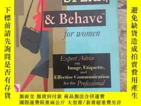 二手書博民逛書店look罕見speak behave for womenY314