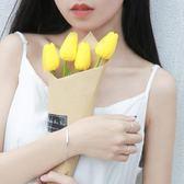幾何情侶手鍊女韓版s925純銀百搭