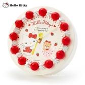 日本限定 三麗鷗 HELLO KITTY 凱蒂貓 草莓蛋糕造型 壁掛時鐘 / 立式時鐘 / 掛鐘