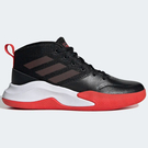 ADIDAS OWN THE GAME WIDE 女鞋 大童 籃球 緩衝 透氣 網布 黑 紅【運動世界】EF0309