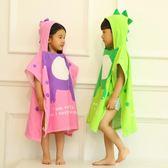 兒童浴巾斗篷純棉卡通寶寶浴袍套頭吸水帶帽夏季  ys1902『時尚玩家』
