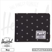 Herschel 皮夾 黑色網格 經典內斂多卡短夾 Roy-1577 MyBag得意時袋