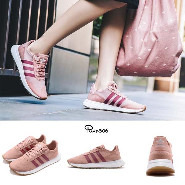 【五折特賣】adidas 休閒慢跑鞋 FLB_Runner W 粉紅 白