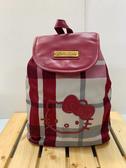 【震撼精品百貨】Hello Kitty 凱蒂貓~Sanrio HELLO KITTY美國版後背包-紅格紋#12762