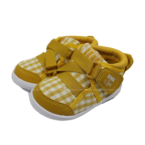 (B8) IFME 日本機能童鞋 Light 護踝 超Q底 學步鞋 IF20-080012 芥末黃 [陽光樂活]