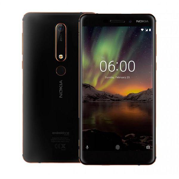Nokia 6.1 2018 4G/64G 5.5吋 雙卡雙待 支援NFC 獨家蔡司認證鏡頭 / 現金價【黑】