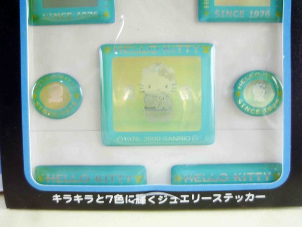【震撼精品百貨】Hello Kitty 凱蒂貓~KITTY立體貼紙-藍方