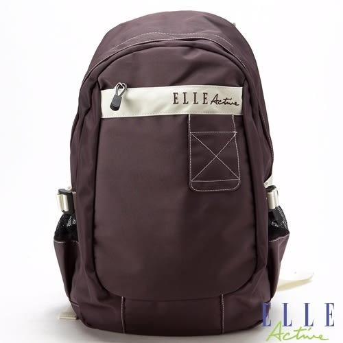 Backbager 背包族 【ELLE Active】First Light 曙光系列 後背包/登山包/背包/外出包/休閒包 咖紫色